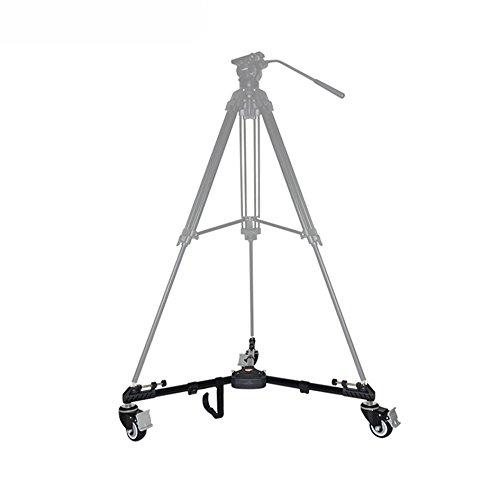 Universal plegable Dolly ruedas Polea VX-600 para soporte trípode cámara de vídeo: Amazon.es: Electrónica