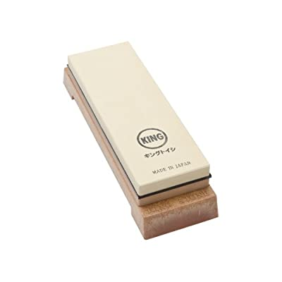 King Two Sided Sharpening Stone with Base - #1000 & #6000 by King