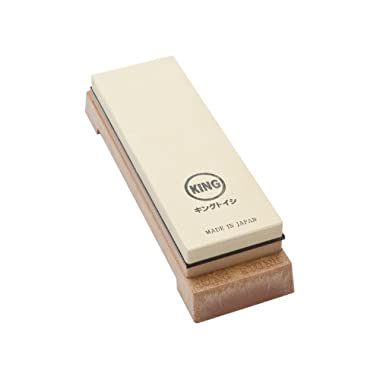 King Two Sided Sharpening Stone with Base - #1000 & #6000