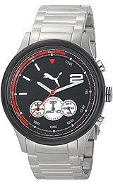 Puma Wheel Chrono - L Metal Black Men's watch #PU102741003