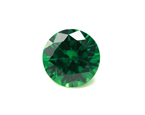 Alone Moon loose ruby sapphire Emerald synthetic gemstones round diamond cut perfect replacement for jewelry making (8mm, 40pcs) by Alone Moon