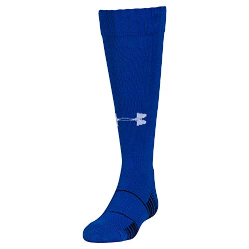 Under Armour Unisex-Child Team Over-The-Calf Socks, 1-Pair, Shoe Size: Youth 1-4, Royal/White