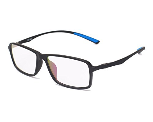 Beison TR90 Sports Glasses Optical Eyeglasses Flexible Frame 55mm (Matte Black, 55)