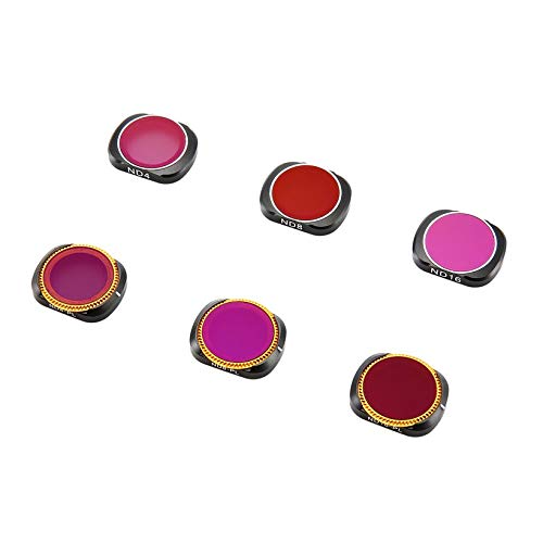 Wikiwand 6PC ND4+ND8 +ND16+ND4-PL+ND8-PL+ND16-X Camera Lens Filters for OSMO Pocket by Wikiwand (Image #2)