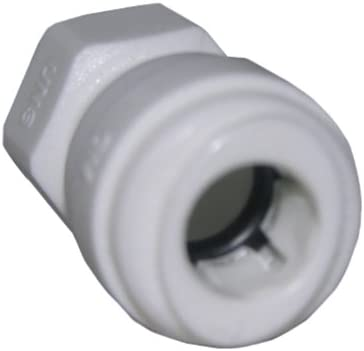 LASCO 19-6183 Push-in Fitting with 3/8-Inch OD Tube and 1/4-Inch Compression Female Thread, Plastic