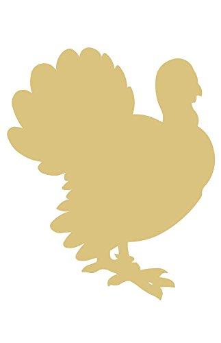 (Turkey Cutout Unfinished Wood Thanksgiving Cornucopia Holiday Flightless Bird Food MDF Shape Canvas Style 7)