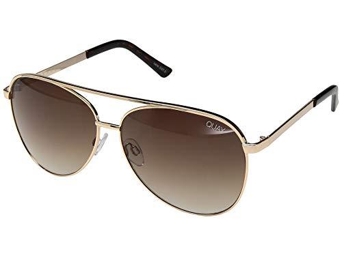 Quay Women's Vivienne Sunglasses, Gold/Brown, One Size