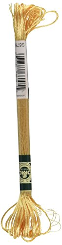 - DMC 1008F-S676 Shiny Radiant Satin Floss, Golden Brown, 8.7-Yard