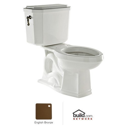 Rohl U.KIT132-EB Deco 1.6 GPF Elongated Toilet with 12'' Rough in and Flush Lever, English Bronze by Rohl