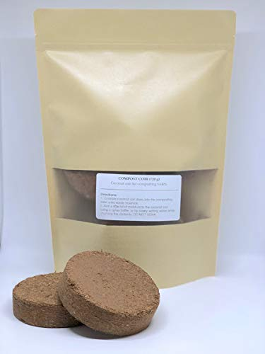 Poopoo Pucks Coconut Coir Disks for Composting Toilet 10cm Organic, Natural