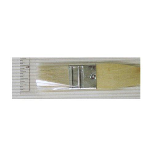 Yasutomo Hake Flat Wash Brush with Metal Ferrule, Sheep Hair Bristles, 1 inch (BFC1)