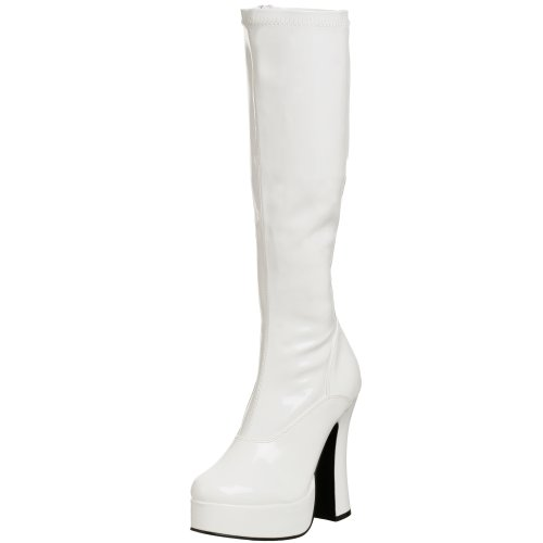 Pleaser Women's Electra-2000Z,White Patent,8 M
