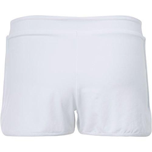 Sportkind Mädchen & Damen Tennis / Volleyball / Sport 2-in-1 Shorts mit Innenhose, weiss, Gr. 140