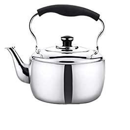 Teapot Kettle 304 Stainless Steel Whistle Kettle Open Fire Induction Cooker Universal (Color : 4l)