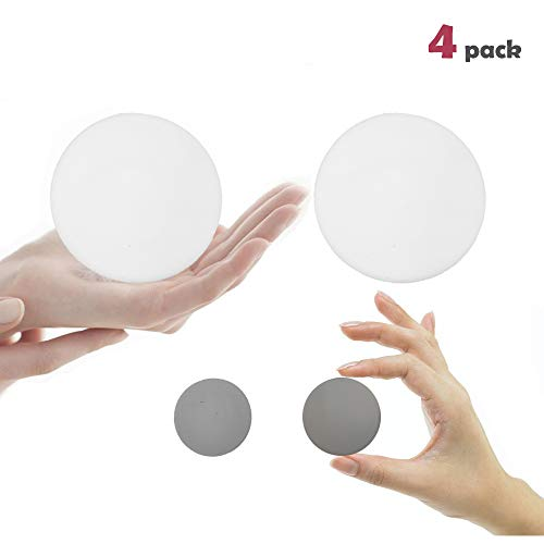 Premium Quality Door Bumper Self Adhesive 3M Sticker Strong Stickiness Wall Protector Guard Door Knob Stopper White & Gray Silicone Door Handle Bumper Set (White 3.2