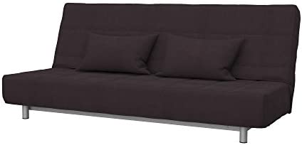 Soferia Replacement Cover for IKEA BEDDINGE 3-seat Sofa-Bed, Fabric Eco  Leather Dark Brown