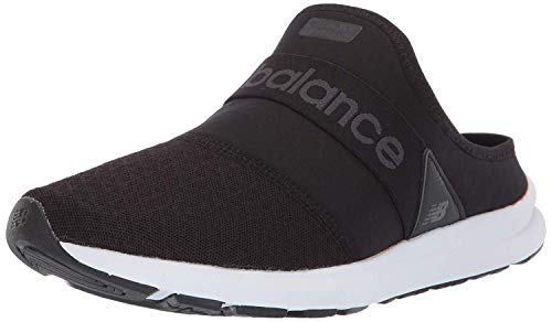 New Balance Women's Nergize V1 Fuel Core Sneaker, Black/Magnet, 8 M US