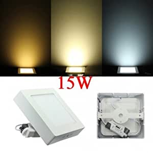15W Square Dimmable LED Panel Ceiling Down Light Lamp AC 85-265V << Color::White >>