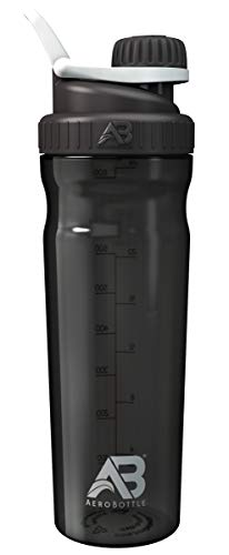ystal Water Bottle/Protein Shaker Cup - Wide Mouth, Leak-Proof Screw Cap Design with Loop for Fitness Sports and Outdoors, 30 oz - Black (Onyx) ()