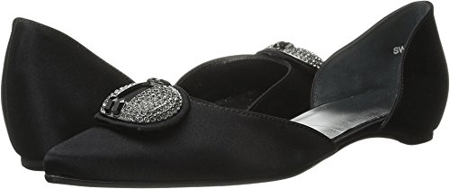 Stuart Weitzman Bridal & Evening Collection Donna Cupola Nero Satinato 4 M Us