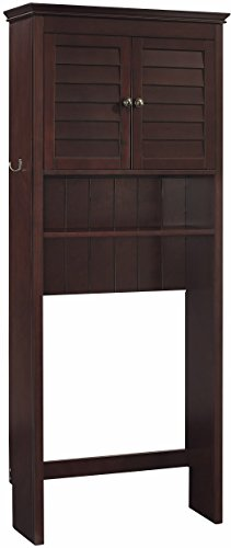 Crosley Furniture Lydia Space Saver Bathroom Cabinet - Espresso Espresso Space Saver