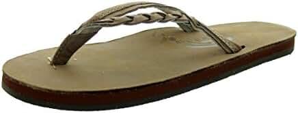 Rainbow Women's Flirty Braidy Dark Brown Sandals - Large 7.5-8.5 B(M) US