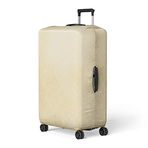 Pinbeam Luggage Cover Tan Ivory Beige Abstract Scratch Brown Cream Neutral Travel Suitcase Cover Protector Baggage Case Fits 22-24 inches