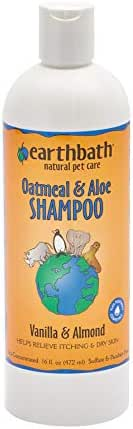 Earthbath Oatmeal & Aloe Shampoo, Vanilla & Almond, 16 Ounce