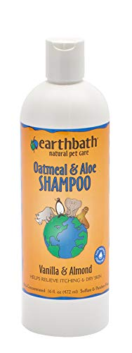 Earthbath Oatmeal & Aloe Shampoo, Vanilla & Almond, 16 Ounce ()