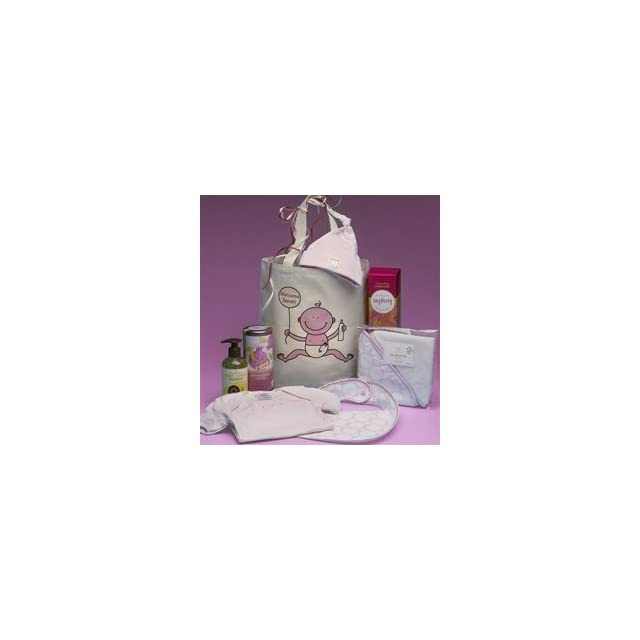 New Baby Girl Personalized Gift Basket