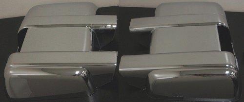 MaxMate Fits 08-13 Ford F250//F350//F450 Super Duty Chrome Mirror Cover Telescopic Mirror W//Turn Light