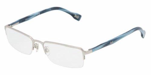 D&g By Dolce & Gabbana Men's 5078 Brushed Silver / Striped Blue Frame Metal Eyeglasses, - Male D&g Models