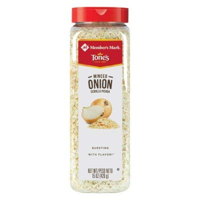 Tone's Minced Onion - 15 oz. shaker (4 Pack)