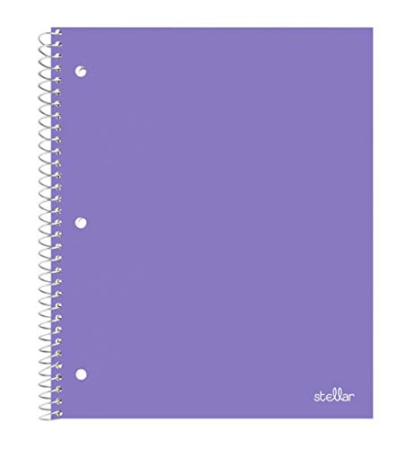 (Stellar Spiral Notebooks, Durable Poly Cover, Graph Ruled Paper, 1 Subject, 8-1/2 x 11-Inches, 100 Sheets (Purple))