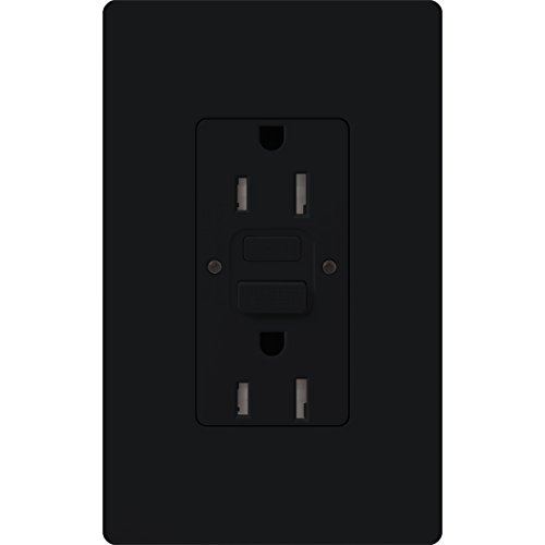 Lutron  SCR-20-GFST-MN  20-Amp  Tamper Resistant Self-Testing Receptacle, Midnight by Lutron (Image #1)