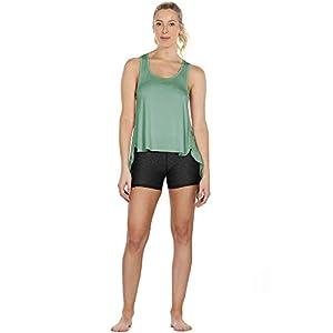 icyzone Donna Backless Canotta Maglie Senza Maniche da Yoga, Sport Top Fitness Tank(Pacco da 2)