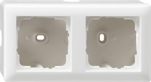 Gira Aufputz-Gehäuse mit Rahmen 2-fach reinweiß glänzend 006203
