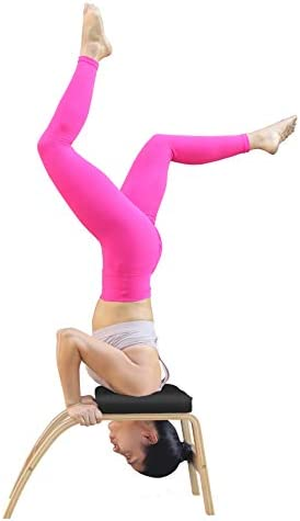 THUNDESK Yoga Inversion Chair Headstand Bench Upside Down Chair
