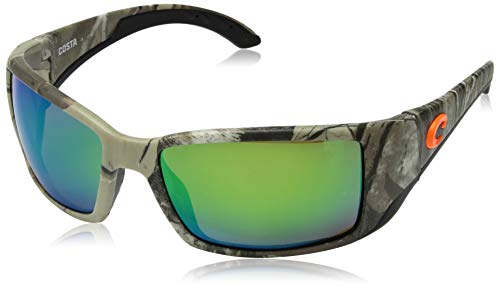 Costa Del Mar Blackfin Sunglasses, Realtree Xtra Camo, Green Mirror 580 Plastic Lens (Couture Inspired Sunglasses)