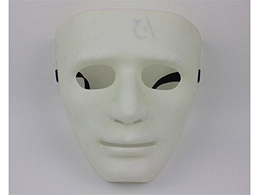 Face mask Shield Veil Guard Screen Domino False Front Bboy mask Thick Street Dance mask Jabbawockeez mask Dancer Dance Performance Ghost Dance White