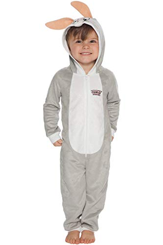 - Looney Tunes Boys' Little Looney Toons Bugs Bunny One Piece Critter Pajama, Gray, 4/5