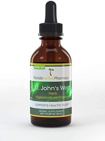 Florida Herbal Pharmacy, Alcohol – Free St. John s Wort Hypericum perforatum Tincture Extract 2 oz.