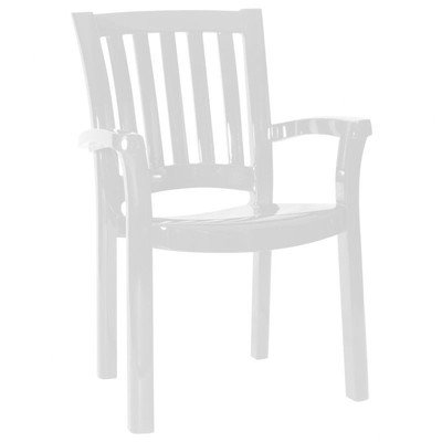Compamia The Sunshine Resin Dining Armchair (Set of 4), White