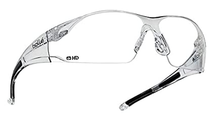 61bd9912ebd Amazon.com  Bolle Safety Rush Safety Glasses Clear Frame