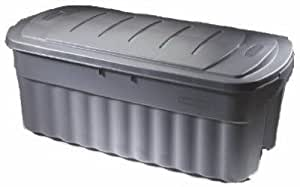 Rubbermaid FG2550CPCYLND Roughneck Storage Box, 50-Gallon, Grey