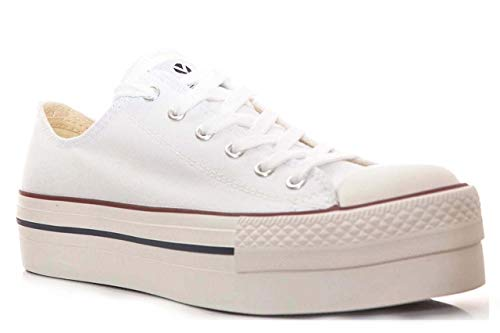 Blanco Victoria Sneaker Basket Donna Plataforma 20 Autoclave Lona Bianco qr0xUSq