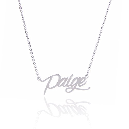 AOLO Stainless Steel Personalized Monogram Necklace, Paige