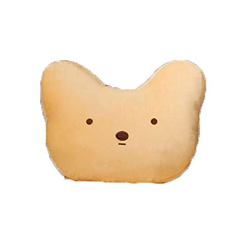 Soft little yellow duck pillow bedroom office cute (shape: small yellow duck cub cat) (Color : Brown)