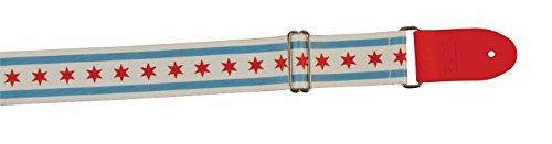 Souldier SLCHI02 SLDR Locking Guitar Strap, Chicago - White/