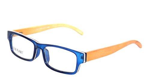 BLUE PLANET Reading Glasses Eco Friendly Men Women Sustainable Bamboo Ladies Designer Eyeglasses Blue ()